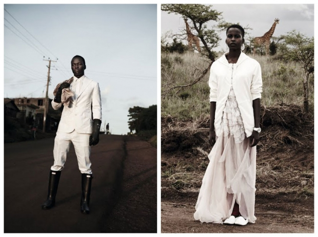 Nairobi editorial for LOVE Magazine. L | Jeffery and  R | Elsie. Photo | Alice Hawkins.