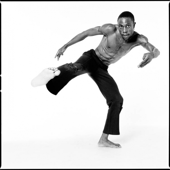 © Antoine Tempé. Andréya Ouamba, Congolese choreographer and dancer, Paris, 2002. Courtesy of the artist.