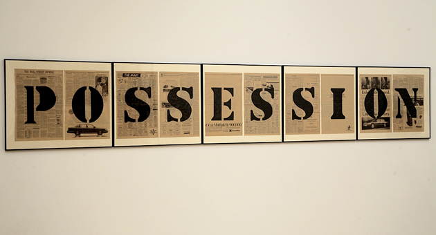 Kendell Geers, Possession, 1989, private collection. Courtesy of Haus der Kunst.