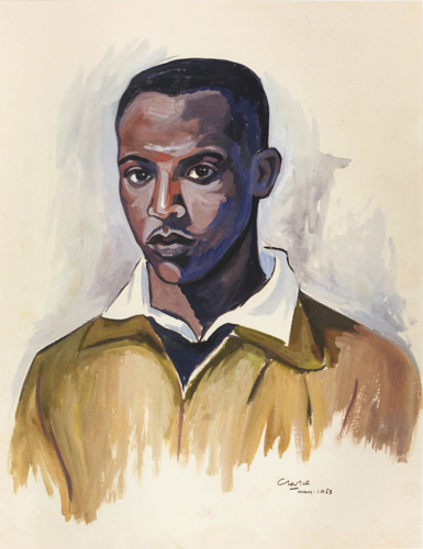 Peter Clarke, Self-Portrait 1953. Copyright the artist.