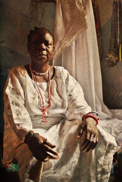 Adolphus Opara, Orisa Lajoomi [diety of children] - Mrs. Ogunremi Lekun. Courtesy of the artist and CCA,Lagos.