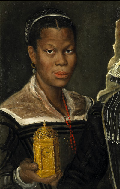 Annibale Carracci, attrib. (Italian, 1560 – 1609), Portrait of an African Slave Woman, ca. 1580s. Tomasso Brothers, Leeds, England. Courtesy of the Princeton University Art Museum.