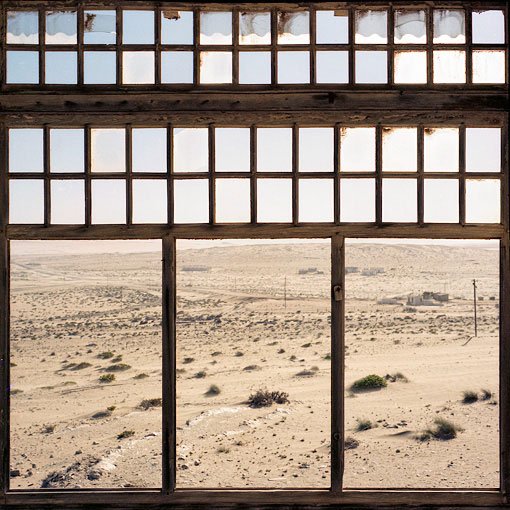 Abandoned diamond mining town of Kolmanskop.