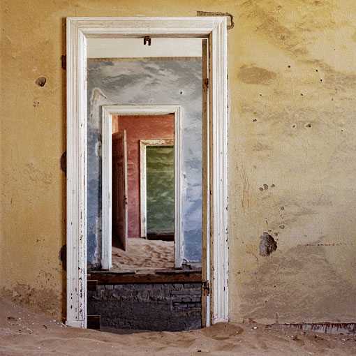 Single men's quarters at Kolmanskop.