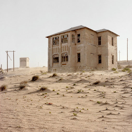 Fierce winds created a sandblasting effect at Kolmanskop.