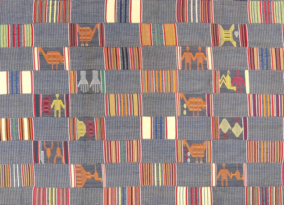 Ewe kente – Guinea Fowl  (detail). Courtesy of adireafricantextiles.com