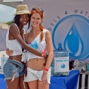 Models 4 Water Founders, Georgie Badiel  & Heidi Lindgren at Model Beach Volleyball Tournament 2012 | Photo Todd Lee Photography
