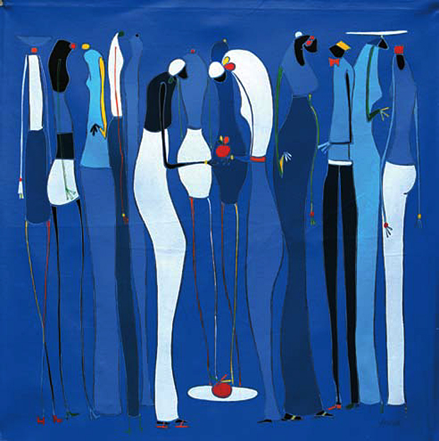 Kofi Agorsor, Auction & Fashion, 2010. Oil on Canvas.
