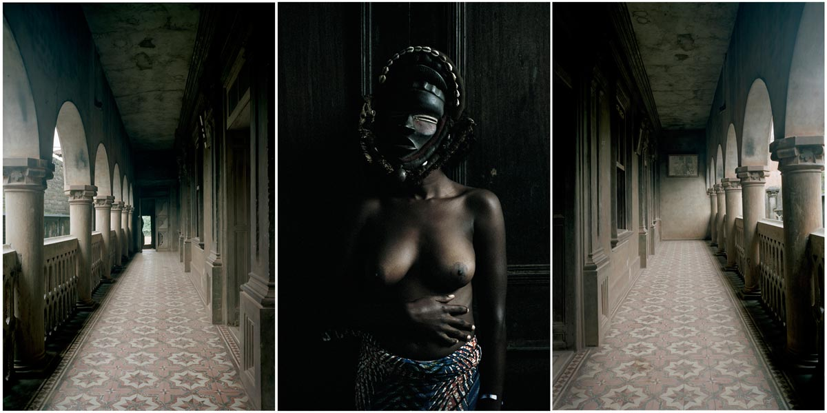 Leonce Raphael Agbodjélou. Untitled Triptych (from the series Demoiselles de Porto-Novo), 2012. Courtesy of the artist and Jack Bell Gallery