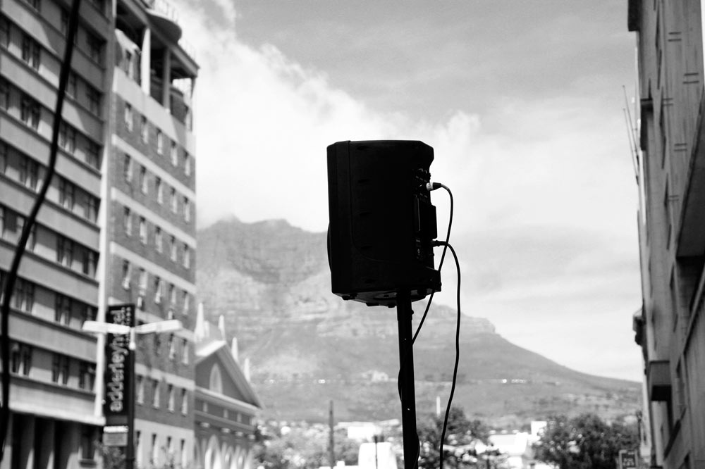 Verbal Mapping II (2013). A set of sound installations around Cape Town, ZA. Photo by Emeka Ogboh