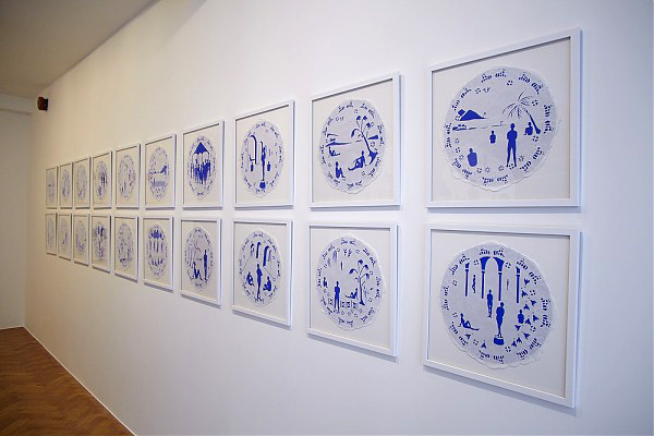 Mary Evans. Willow series, installation view. Courtesy of Tiwani Contemporary.