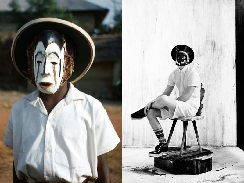 diptych part i masquerade pantomimicry another africa
