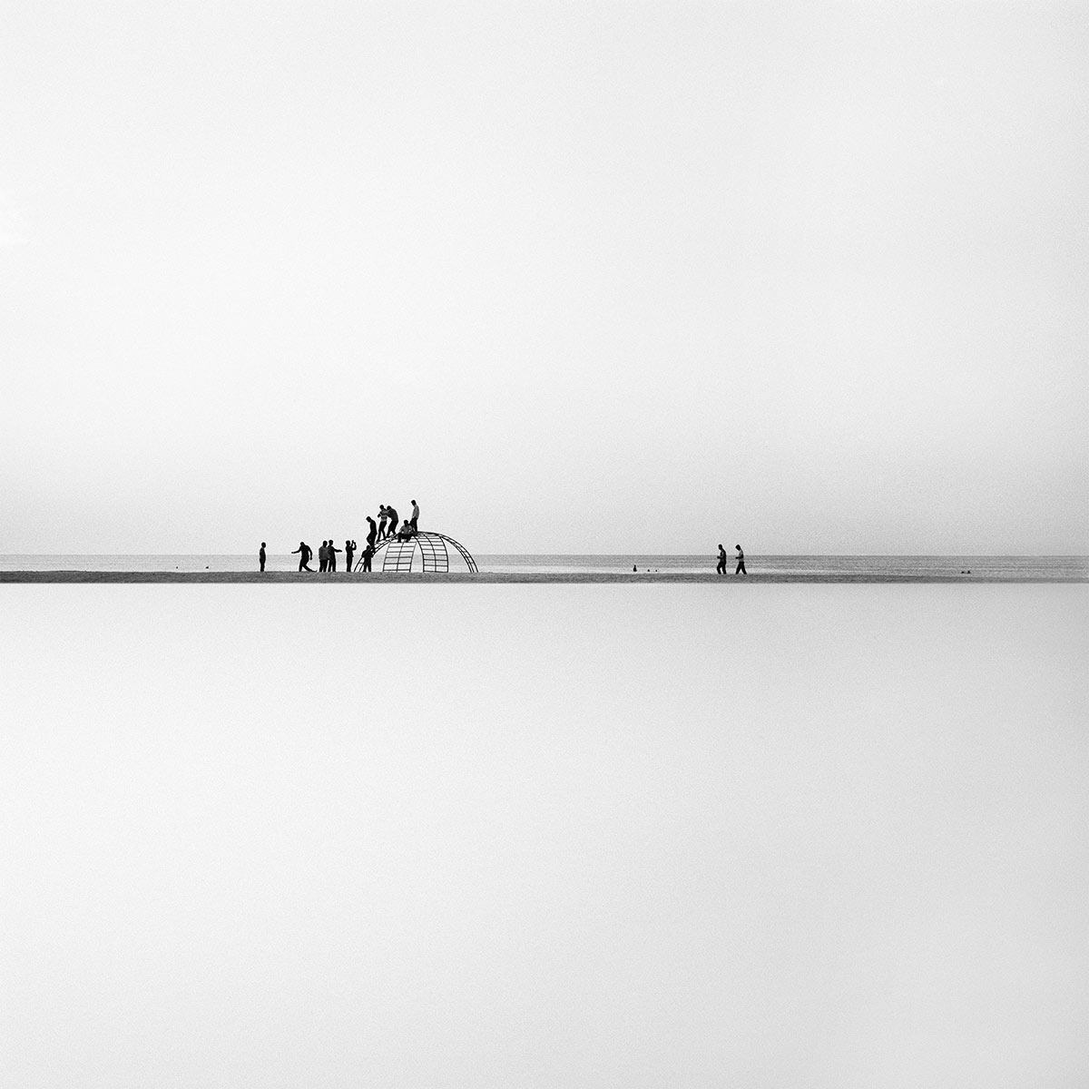 Nicène Kossentini, The city in the Sky IV, 2013. Black and white photography (digital print on Hahnemuhle Fine Art Baryta) 120 x 120 cm. Edition of 5. The City in the Sky series. Courtesy of the artist.
