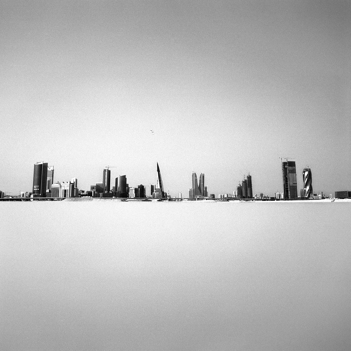 Nicène Kossentini, The city in the Sky VII, 2013. Black and white photography (digital print on Hahnemuhle Fine Art Baryta) 120 x 120 cm. Edition of 5. The City in the Sky series. Courtesy of the artist.