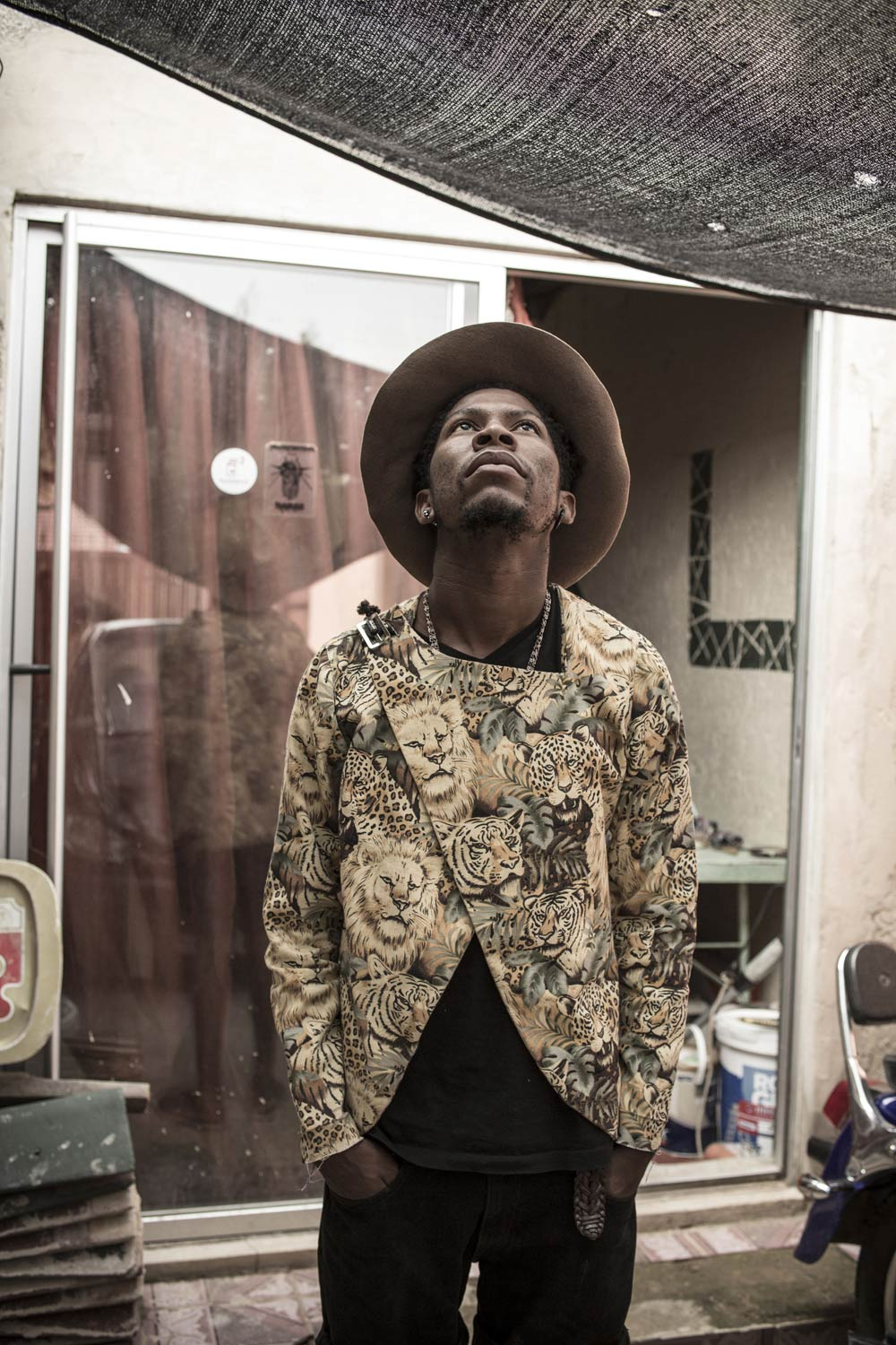 Fashion designer Floyd Avenue at his home and studio in Dobsonville, February 2014. Photo | Chris Saunders.