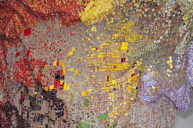 "A detail from El Anatsui's ""Stressed World."" Photo 