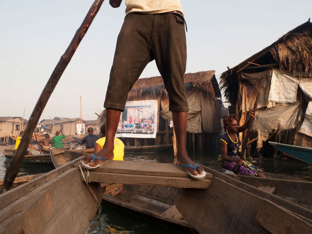 View on the the exhibition, Makoko.