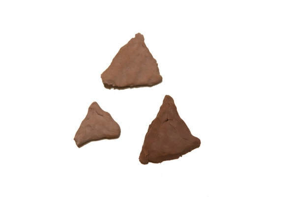 Some pyramids fit in my hands like cookies. © Megumi Matsubara, Simultaneous Diary, 2012.