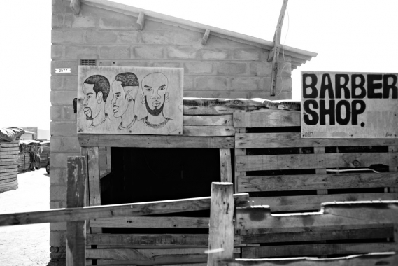 Barber shop, Mondesa, Namibia.
