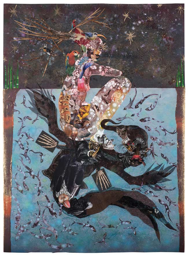 © Wangechi Mutu.  Beneath lies the Power, 2014. Courtesy the Artist and Victoria Miro, London.