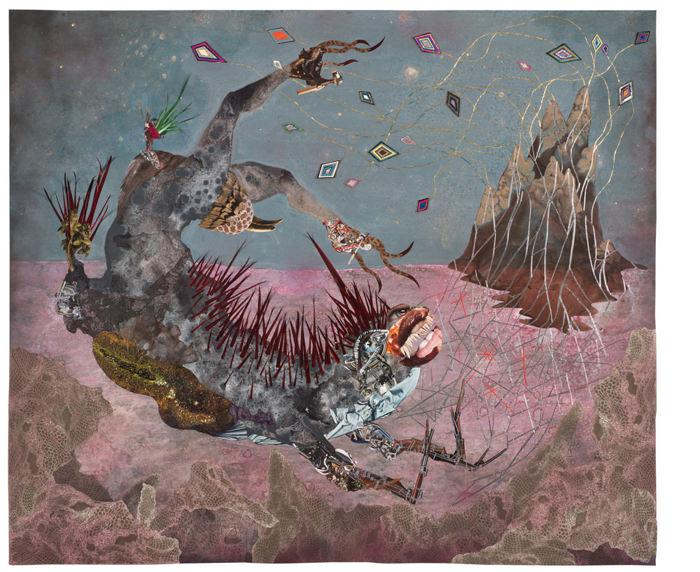 © Wangechi Mutu. The screamer island dreamer, 2014. Courtesy the Artist and Victoria Miro, London.