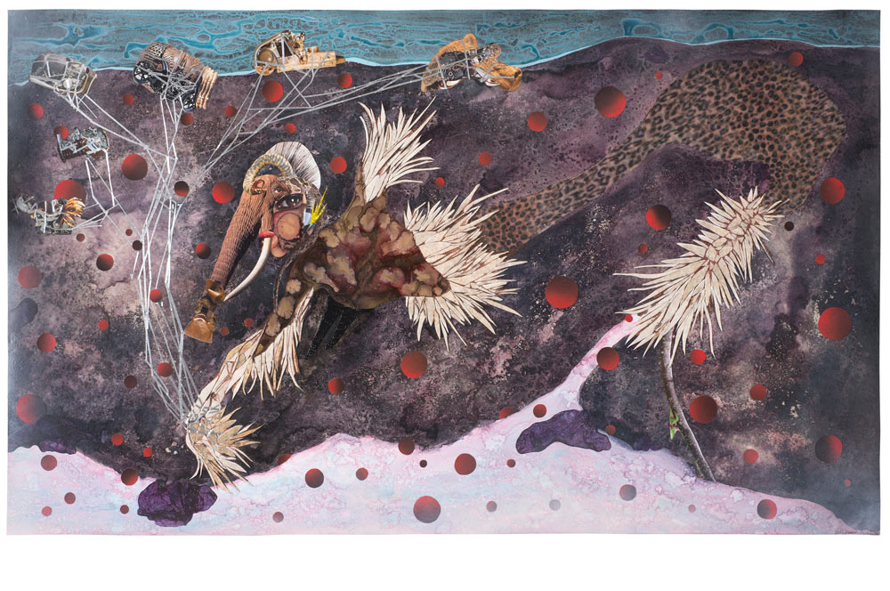 © Wangechi Mutu. History Trolling, 2014. Courtesy the Artist and Victoria Miro, London.