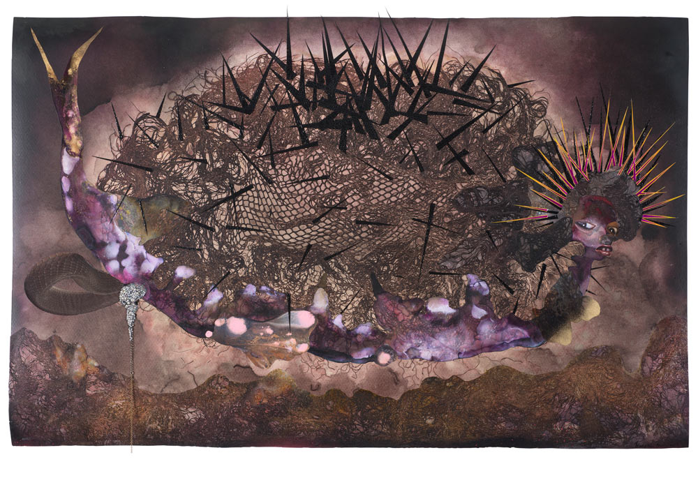 © Wangechi Mutu. My mothership, 2014. Courtesy the Artist and Victoria Miro, London.