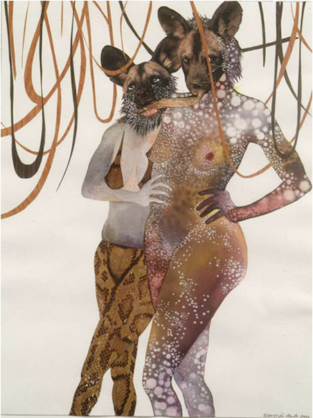 Wangechi Mutu, Intertwined, 2003.