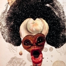 Wangechi Mutu, Histology of the Different Classes of Uterine Tumours, 2004. Courtesy of the artist and The Saatchi Gallery.